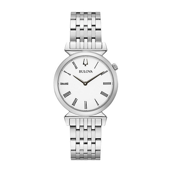 Bulova Regatta Womens Silver Tone Stainless Steel Bracelet Watch - 96l275