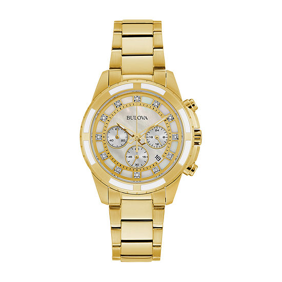 Bulova JCPenney Exclusive Womens Gold Tone Stainless Steel Bracelet Watch-97p146