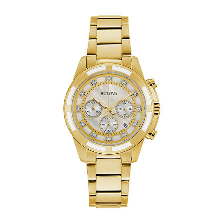 Bulova JCPenney Exclusive Womens Gold Tone Stainless Steel Bracelet Watch-97p146, One Size , No Color Family