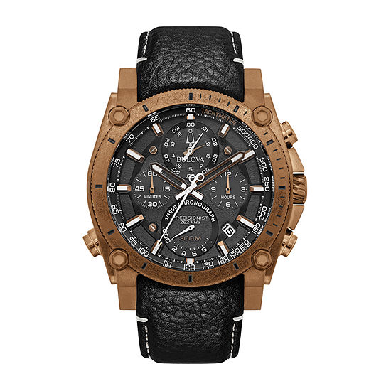 Bulova Precisionist Mens Chronograph Black Strap Watch-97b188