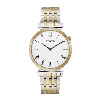 Bulova Regatta Mens Two Tone Stainless Steel Bracelet Watch-98a233