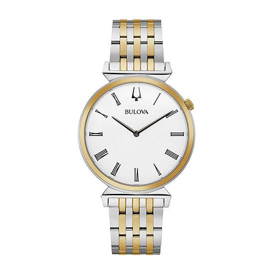 Bulova Regatta Mens Two Tone Stainless Steel Bracelet Watch - 98a233