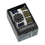 Caravelle Designed By Bulova Mens Blue Strap Watch-43b160