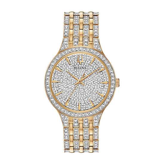 Bulova Phantom Mens Crystal Accent Two Tone Stainless Steel Bracelet Watch-98a229