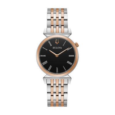 Bulova Regatta Womens Two Tone Stainless Steel Bracelet Watch-98l265