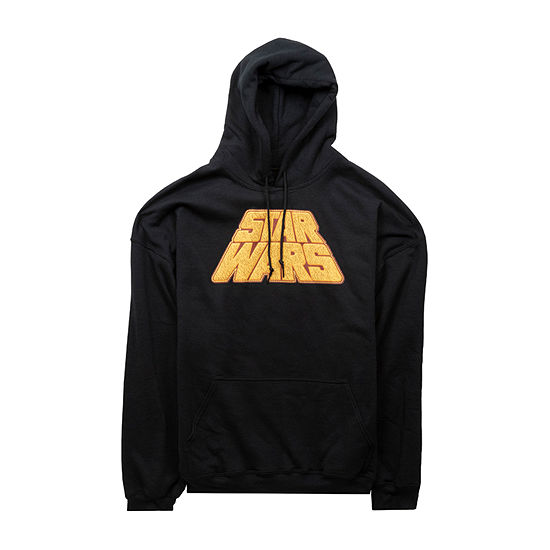 Mens Hooded Neck Long Sleeve Star Wars Graphic T-Shirt
