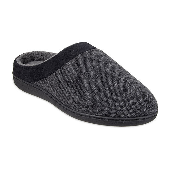 Stafford® Wide Width Textured Jersey Clog Slipper
