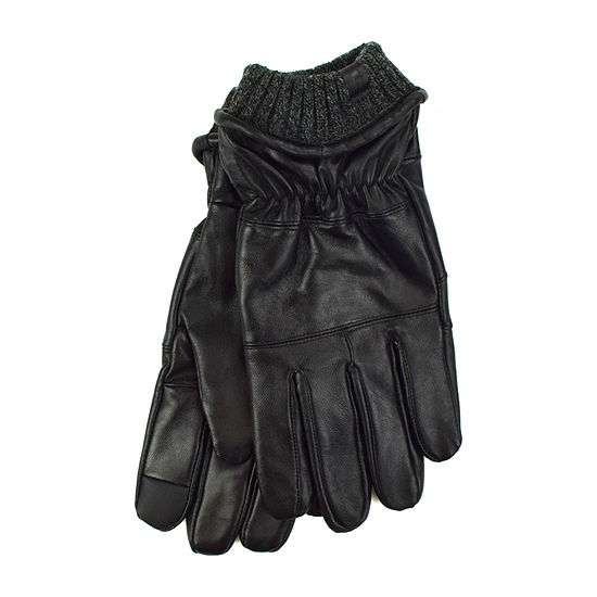 Collection By Michael Strahan Gathered Leather Gloves