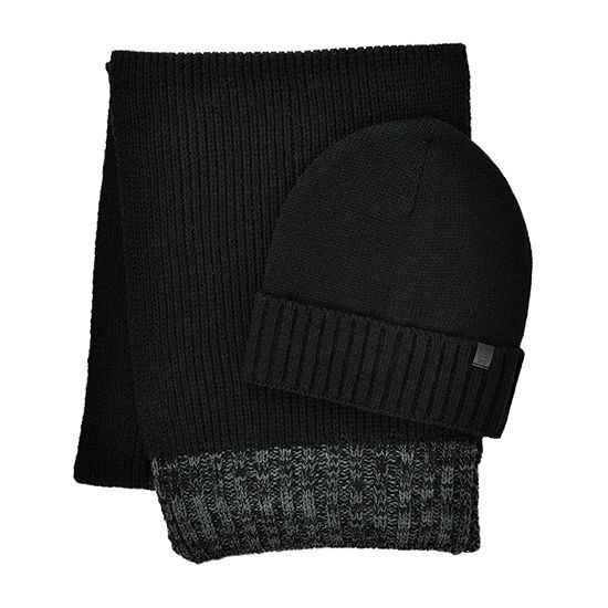Collection By Michael Strahan Rib Knit Beanie & Scarf Set