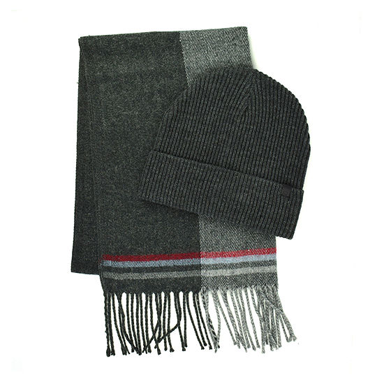 Collection By Michael Strahan Color Blocked Beanie & Scarf Set