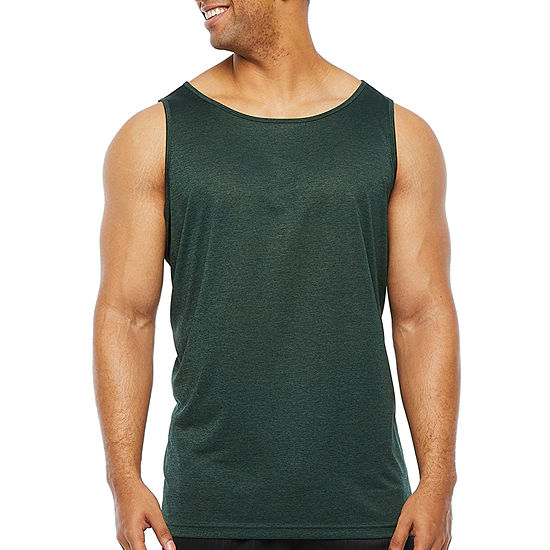 The Foundry Big & Tall Supply Co. Big and Tall Mens Crew Neck Sleeveless Moisture Wicking Tank Top