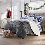 North Pole Trading Co Faux Mink to Sherpa Comforter