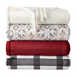 Home Expressions Velvet Plush Fringe Throw