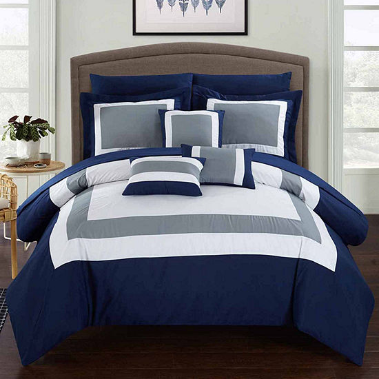 Chic Home Duke 10-pc. Midweight Comforter Set