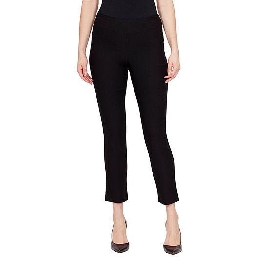 Larry Levine Womens Slim Pull-On Pants