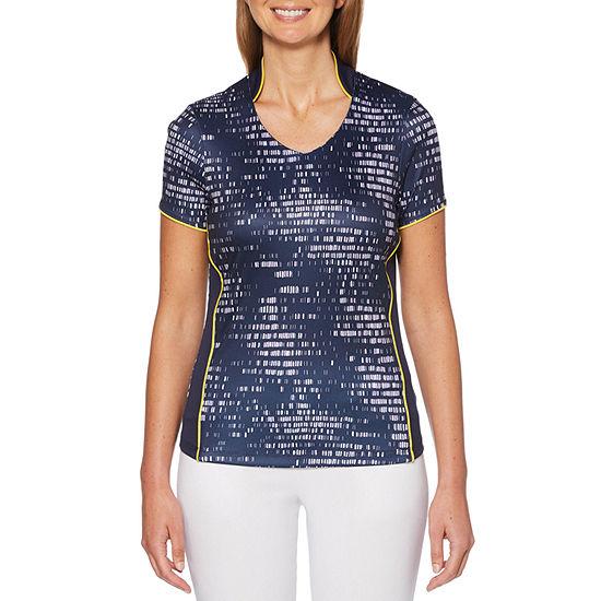 PGA TOUR Womens V Neck Short Sleeve T-Shirt