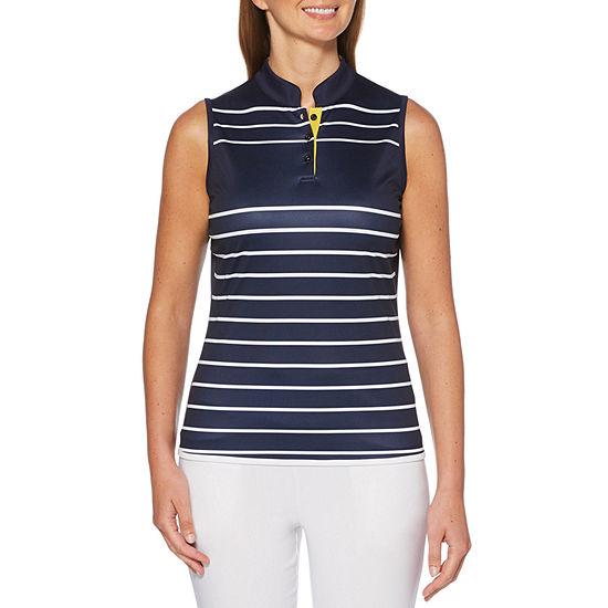 PGA TOUR Womens Y Neck Sleeveless Tank Top