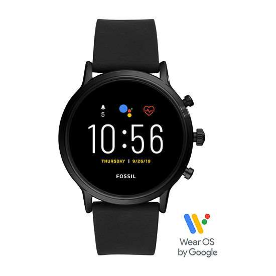 Fossil Smartwatches Gen 5 The Carlyle Hr Mens Black Smart Watch Ftw4025