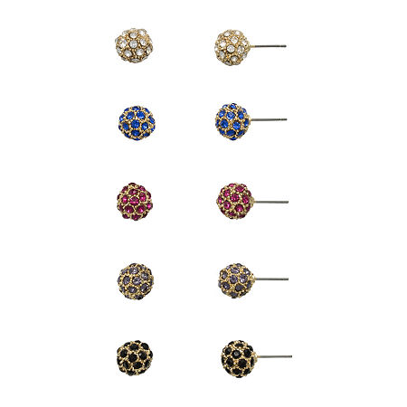Mixit 5 Pair Knot Earring Set, One Size , Multiple Colors