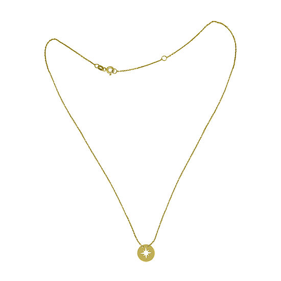 Womens 14K Gold Star Pendant Necklace