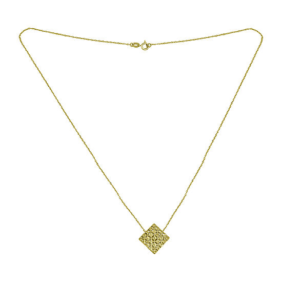 Womens 14K Gold Diamond Pendant Necklace