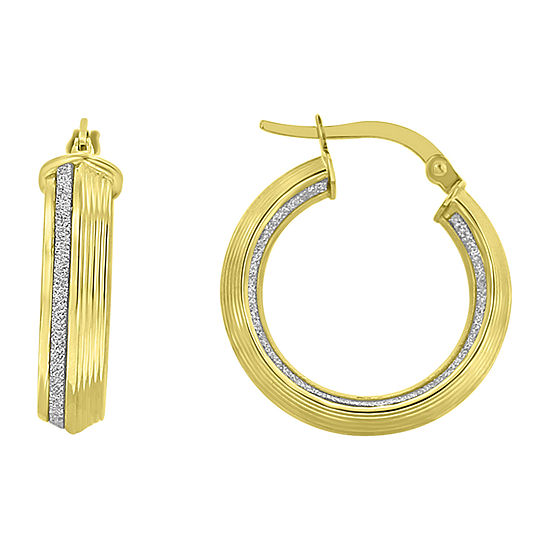 Made in Italy 14K Gold 23mm Round Hoop Earrings