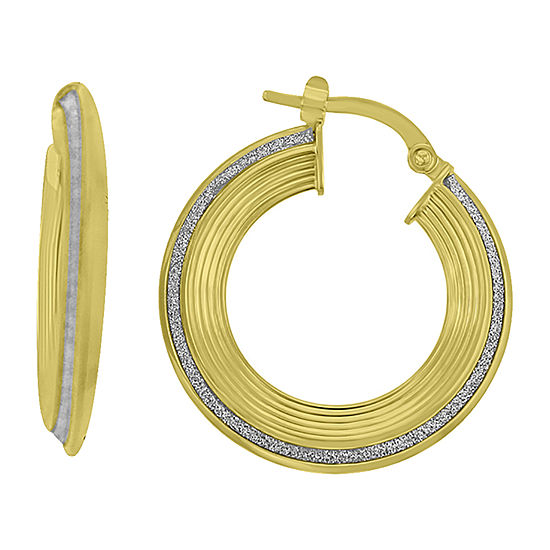 Made in Italy 14K Gold 26mm Round Hoop Earrings