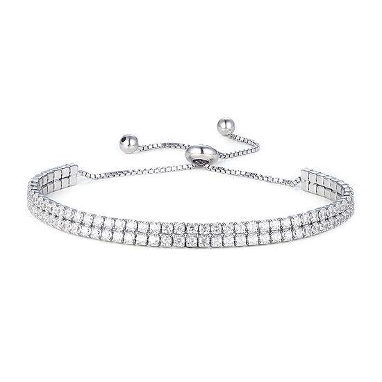 Diamonart 3 1/4 CT. T.W. White Cubic Zirconia Sterling Silver Bolo Bracelet