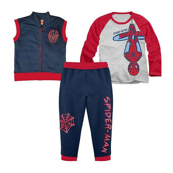Marvel Toddler Boys Spiderman 3-pc. Pant Set