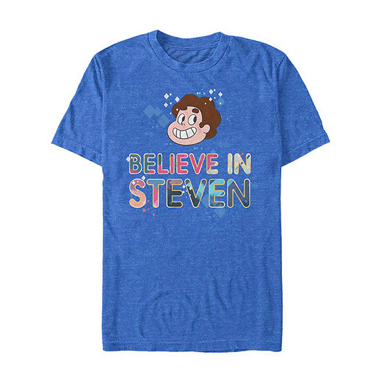 Steven Universe Believe Mens Crew Neck Short Sleeve Graphic T-Shirt-Slim