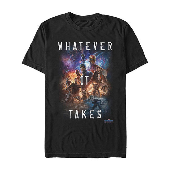 Slim Avengers Whatever It Takes Mens Crew Neck Short Sleeve Marvel Graphic T-Shirt
