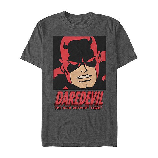 Slim Daredevil The Man Without Fear Comic Mens Crew Neck Short Sleeve Marvel Graphic T-Shirt