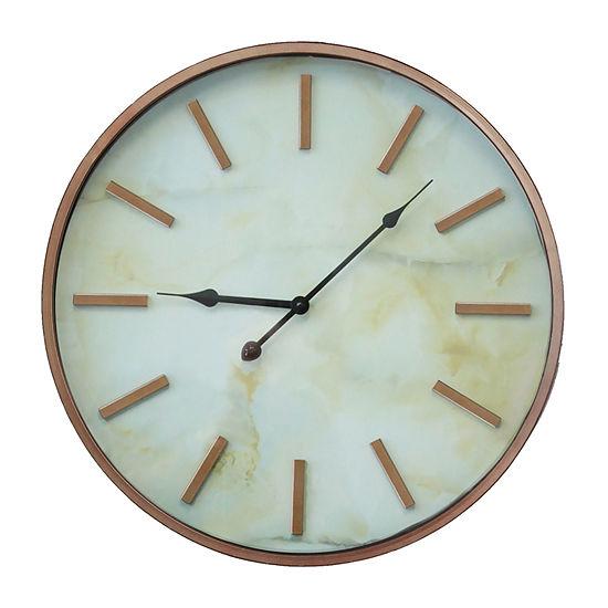 Stratton Home Decor Copper Marble Wall Clock