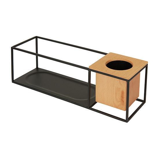 Umbra Cubist Wall Display Small Sand/Black Floating Shelf