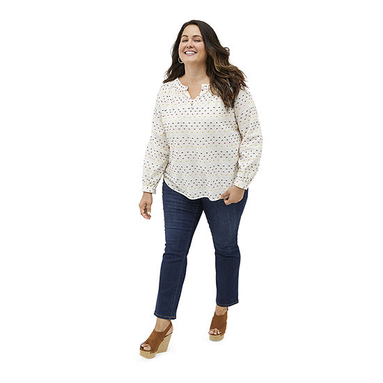Heritage: St. John's Bay Blouse and Straight Leg Jean