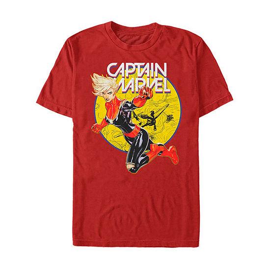 Slim Super Hero Punch Mens Crew Neck Short Sleeve Graphic T-Shirt