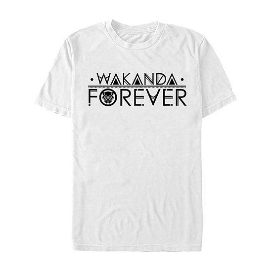 Slim Black Panther Wakanda Forever Mens Crew Neck Short Sleeve Marvel Graphic T-Shirt