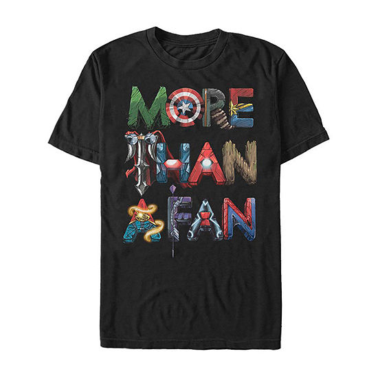 Slim More Than A Fan Mens Crew Neck Short Sleeve Graphic T-Shirt