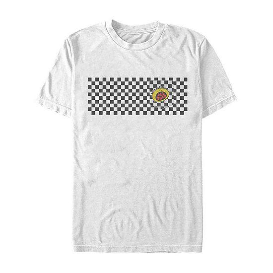 Slim Nickelodeon All That Retro Checkered Mens Crew Neck Short Sleeve Graphic T-Shirt