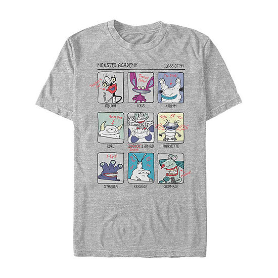 Nickelodeon Ahh Real Monsters Yearbook Photos Mens Crew Neck Short Sleeve Graphic T-Shirt