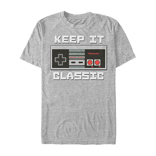Nintendo Nes Classic Controller Mens Crew Neck Short Sleeve Graphic T-Shirt