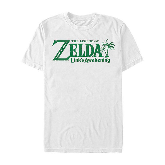 Links Awakening Logo Mens Crew Neck Short Sleeve Zelda Graphic T-Shirt