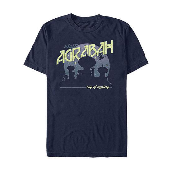 Slim Visit Agrabah City Of Mystery Mens Crew Neck Short Sleeve Aladdin Graphic T-Shirt