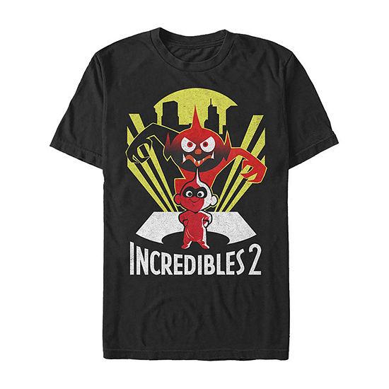 Incredibles 2 Evil Jackjack Demon Mens Crew Neck Short Sleeve Graphic T-Shirt
