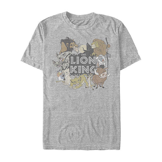 Slim Group Shot Mens Crew Neck Short Sleeve The Lion King Graphic T-Shirt