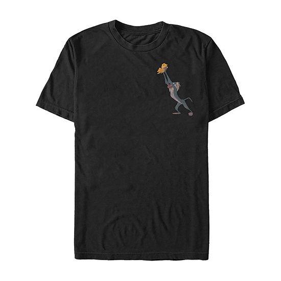 Rafiki Presents Baby Simba Mens Crew Neck Short Sleeve The Lion King Graphic T-Shirt