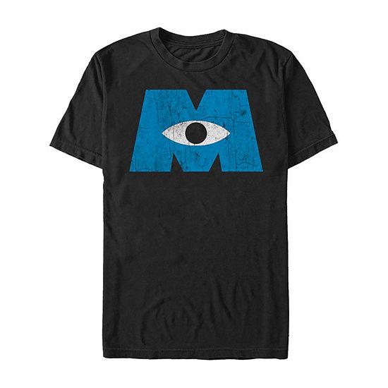 Monsters Inc Eye Logo Mens Crew Neck Short Sleeve Graphic T-Shirt