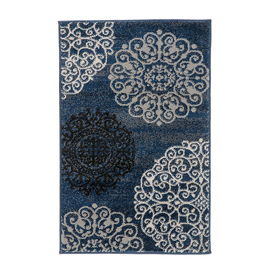 World Rug Gallery Modern Contemporary Floral Rectangular Indoor Rugs