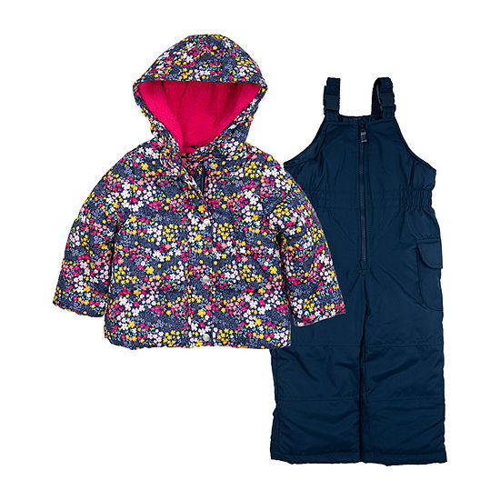 Carter's Heavyweight Floral Snow Suit-Toddler Girls
