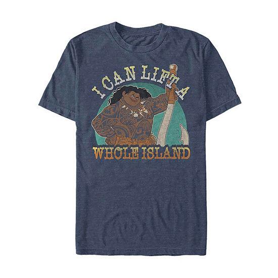 Slim Maui Island Strength Mens Crew Neck Short Sleeve Moana Graphic T-Shirt